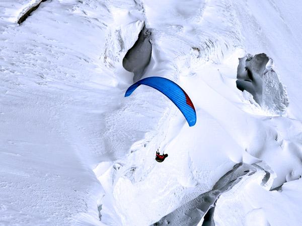 parapente hiver Mont-Blanc