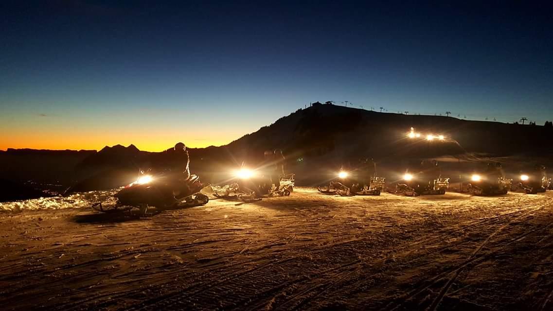 balades moto neige Annecy